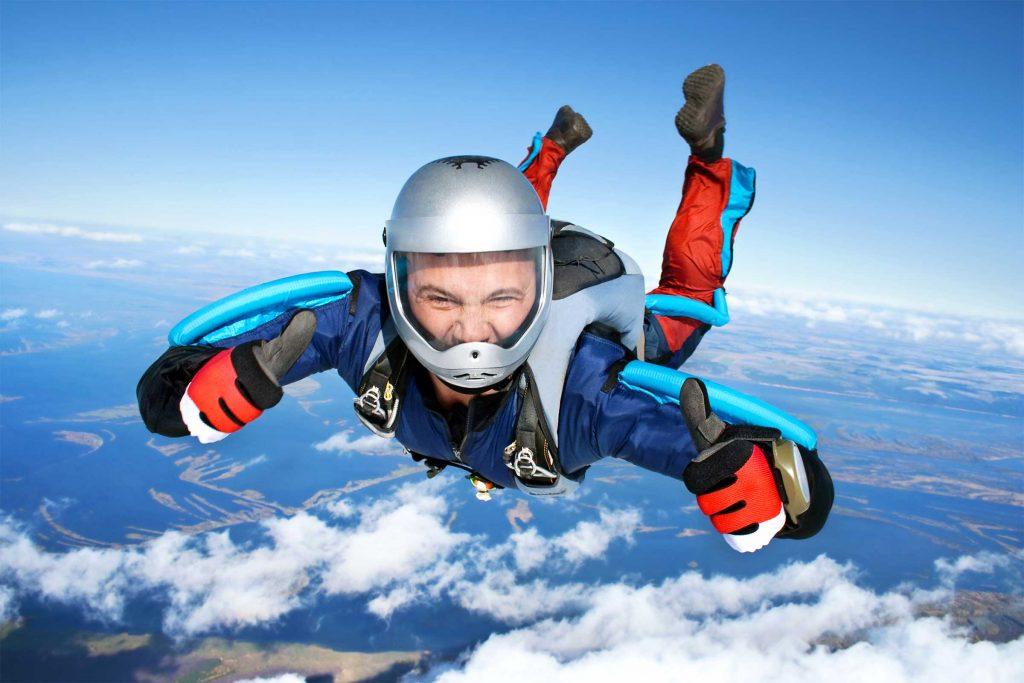 guy skydiving