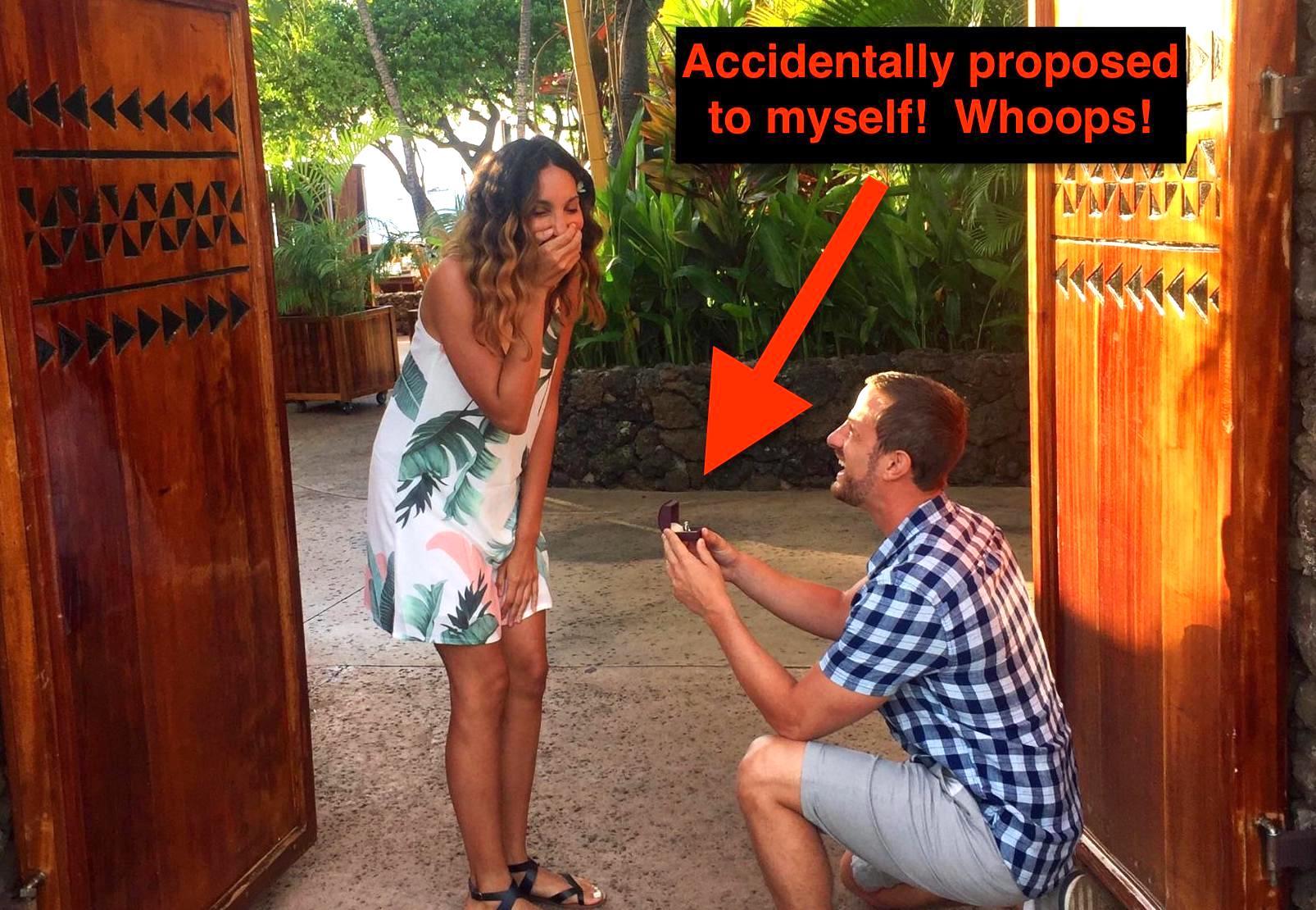 Joshua Pompey proposing to wife