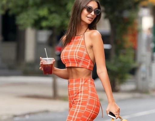 Emily walking down the street